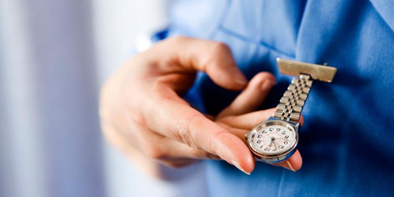 nurse-checking-watch