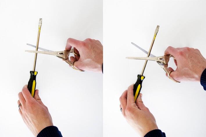 آموزش تیز کردن قیچی در خانه www.howcanu.com