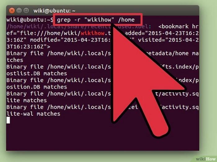 جستجوی فایل در لینوکس-هاوکنیو